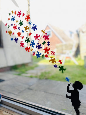 Child Blowing Rainbow Jigsaw - Choose Your Silhouette