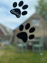 Load image into Gallery viewer, Dog Paw Prints with Name