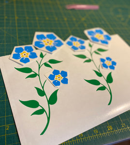 Forget Me Not Flowers - Vinyl Sticker