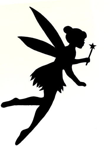 Fairy Silhouette Vinyl Sticker - Choose Your Fairy