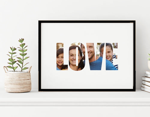 Love - Custom Personalised A4 Photo Print
