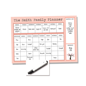 Family Planner / To Do List / Organiser / Kids, Food and Meal Planner