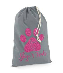 Personalised Pet Paws Off Treats Stuff Bag - Pet Gifts / Accessories