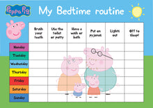 Load image into Gallery viewer, Peppa Pig Bedtime Routine Kids Reward Chart