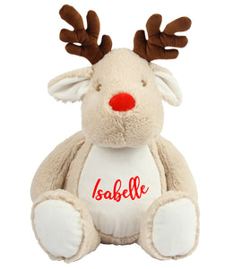 Personalised Name - Large Reindeer Teddy