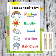 Load image into Gallery viewer, Weather Cloud Rainbow System Kids A4 Reward Chart