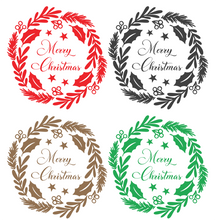 Load image into Gallery viewer, Merry Christmas Wreath - Wall / Window Sticker