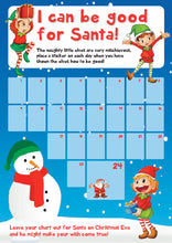 Load image into Gallery viewer, Christmas Reward Chart - Kids Children Good Behaviour Xmas Countdown Tracker