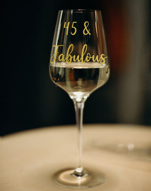 Age And Fabulous Sticker - Birthday Glassware Vinyl