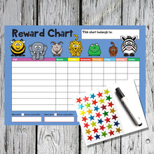Load image into Gallery viewer, Animal Design A4 Reward Chart