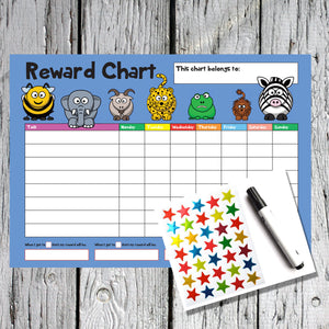 Animal Design A4 Reward Chart