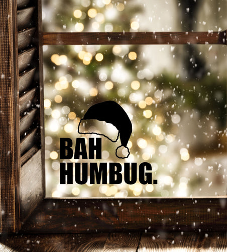 Bah Humbug - Christmas Wall / Window Sticker