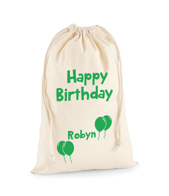 Personalised Balloon Sack -Birthday Sack