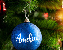 Load image into Gallery viewer, Personalised Name Bauble Sticker - Christmas Sticker