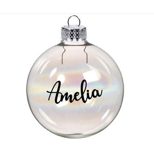 Personalised Name Bauble Sticker - Christmas Sticker