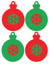 Load image into Gallery viewer, Christmas Baubles - Set of 4 - Christmas Wall / Window Sticker