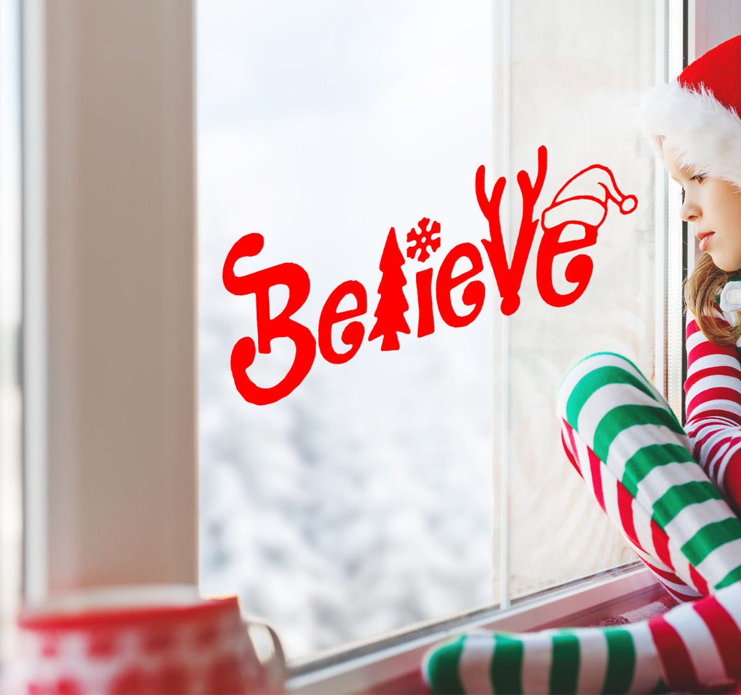 Believe - Christmas Wall / Window Sticker