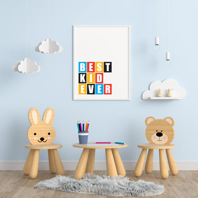 Best Kid Ever A4 Print - Children's Prints