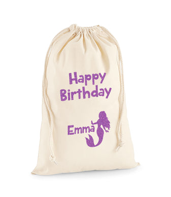 Personalised Mermaid Sack -Birthday Sack