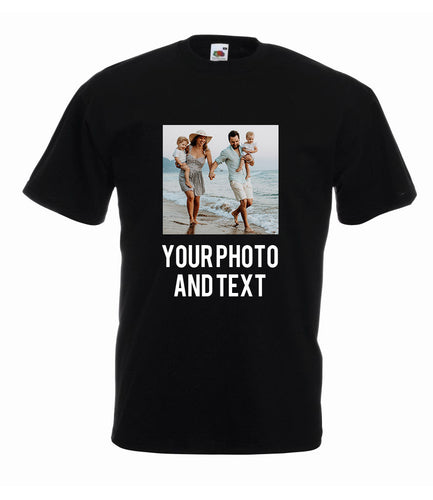 Personalised Men's Photo T-Shirt with Text