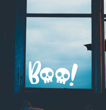 Load image into Gallery viewer, Halloween Boo Skulls Window Sticker