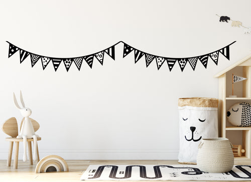 1 Metre Bunting - Vinyl Wall/Window Art Sticker