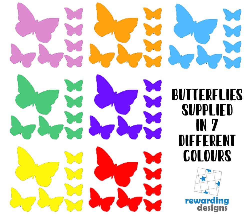 Butterfly Rainbow Stickers