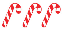 Load image into Gallery viewer, Candy Cane - Set of 3 - Christmas Wall / Window Sticker