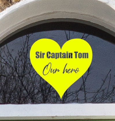 Captain Tom Heart - Vinyl Wall Sticker