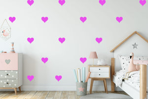 Heart Vinyl Sticker Pack - Children's Wall Art