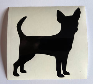 Dog Silhouette with hearts - Choose your Breed and Heart Colour