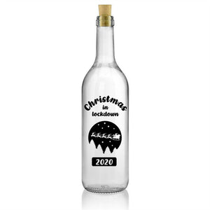 Christmas in Lockdown 2020 - Wine Bottle Sticker - Xmas Decoration DIY Vinyl