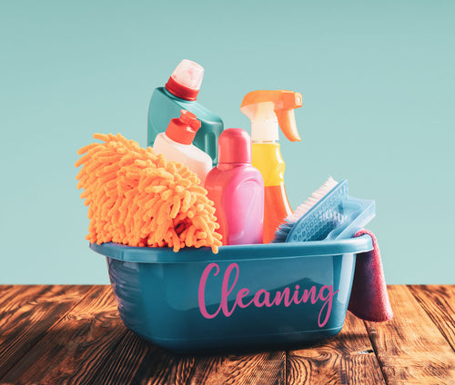 Cleaning Label Bundle- Cleaning, Softener, Tabs, Sponges, Cloths, Detergent