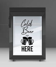 Load image into Gallery viewer, Cold Beer - Vinyl Wall / Window Art Sticker - Pub Man Cave