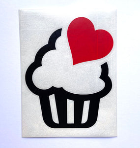 Cute Cupcake With Coloured Heart