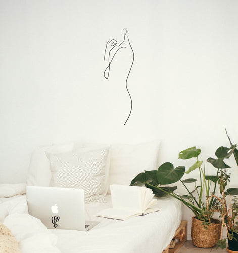 Curve Line Woman Art - Bedroom Wall Art