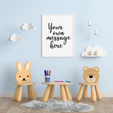 Create your own Custom Personalised Print - Children's Prints