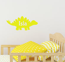 Load image into Gallery viewer, Personalised Dinosaur - Children's Wall Sticker