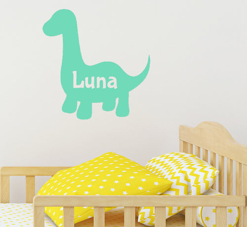 Personalised Dinosaur - Children's Wall Sticker