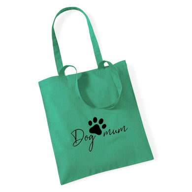 Dog Mum with Paw Print - Tote Bag