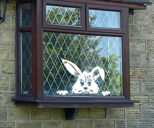 Peeking Easter Bunny - Easter Vinyl Decoration