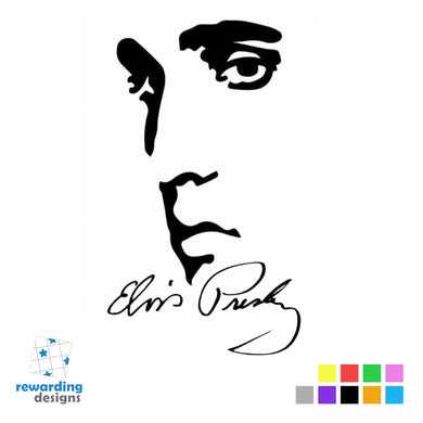 Elvis Presley Silhouette Vinyl Sticker - Decal - Wall Art - Laptop - Phone