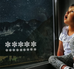 Extra Pack Of Snowflakes - Christmas Wall / Window Sticker