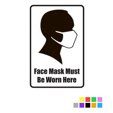 Face Masks Must Be Worn - Vinyl Window or Wall Sticker / Decal