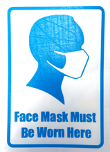 Load image into Gallery viewer, Face Masks Must Be Worn - Vinyl Window or Wall Sticker / Decal