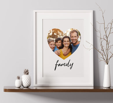 Family Heart - Custom Personalised A4 Photo Print