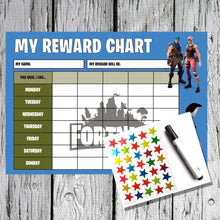 Load image into Gallery viewer, Fortnite Kids A4 Reward Sticker Chart