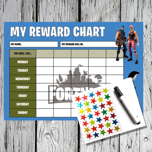 Fortnite Kids A4 Reward Sticker Chart