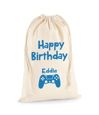 Personalised Gaming Sack -Birthday Sack