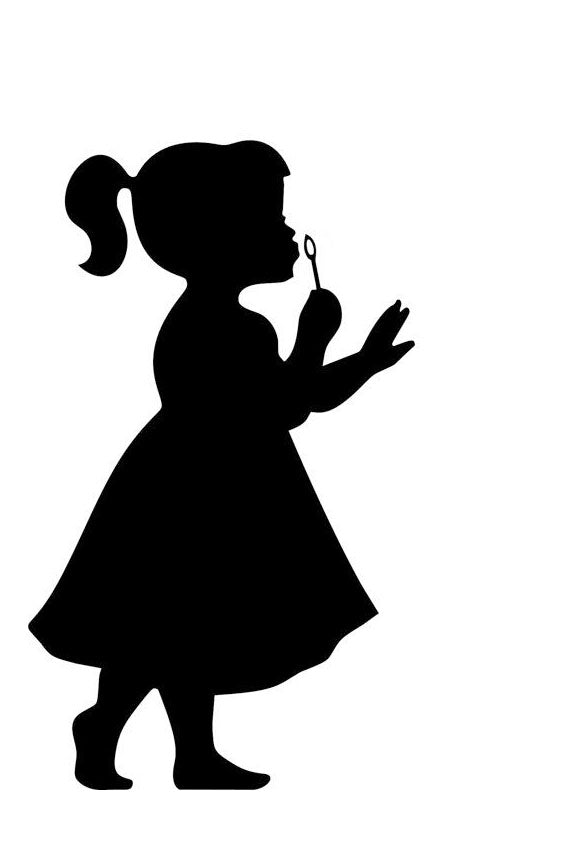 Silhouette Of a Child - Choose from Girl or Boy